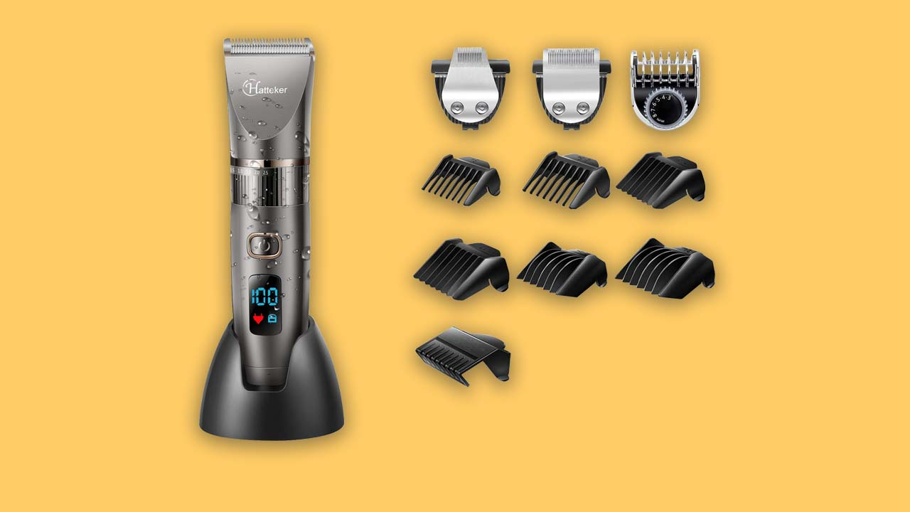 Hattenker cordless hair clippers with 10 combs-recommended