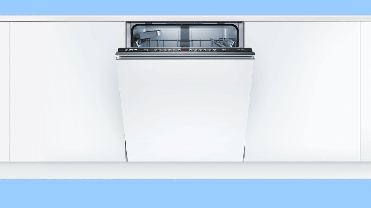 Bosch Serie 4 integrated, built in dishwasher showing control panel. Recommended UK