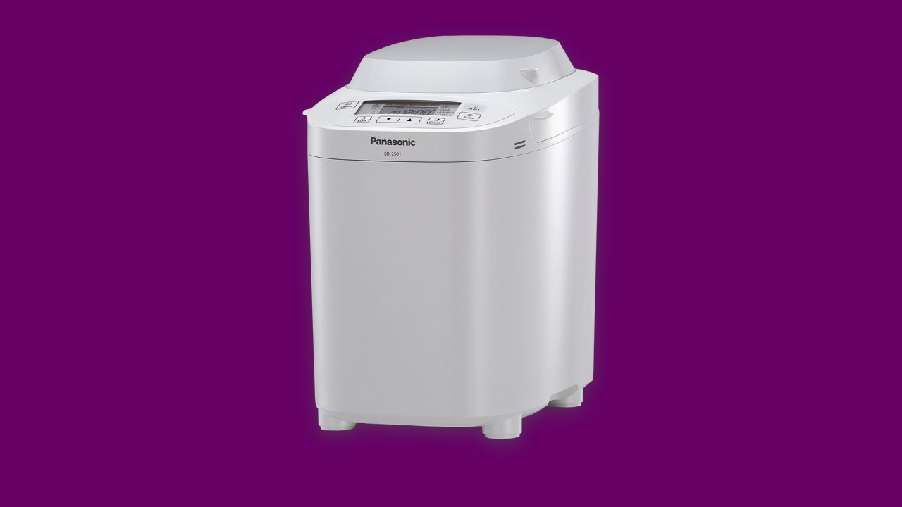 Best buy SD2501 Panasonic bread maker with nut & raisin dispenser in white