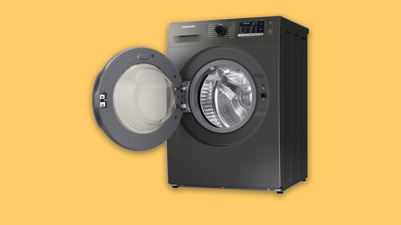 Recommended best buy Samsung washer dryer. Graphite open door metal hinges UK