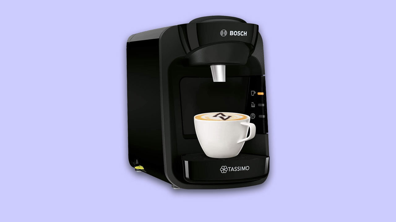 Bosch Tassimo recommended best buy drinks machine UK. Special edition in black
