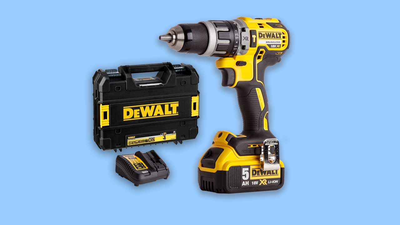 Recommended Dewalt Cordless DCD796 Drill with 5AH Battery case and charger. UK best buy for professionals and trade
