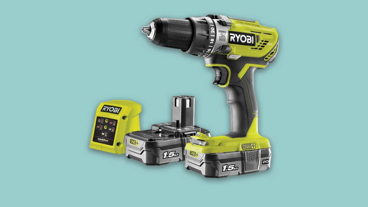 Recommended combi-drill cordless Ryobi with two batteries and charger UK
