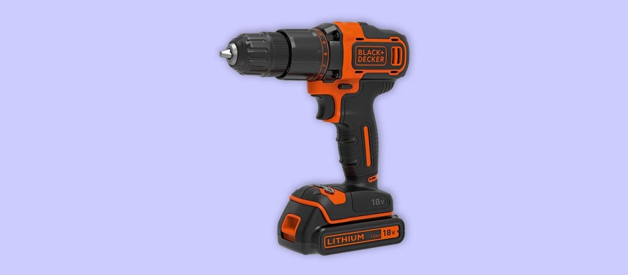 Black Decker cordless combi drill for DIY with on battery uk