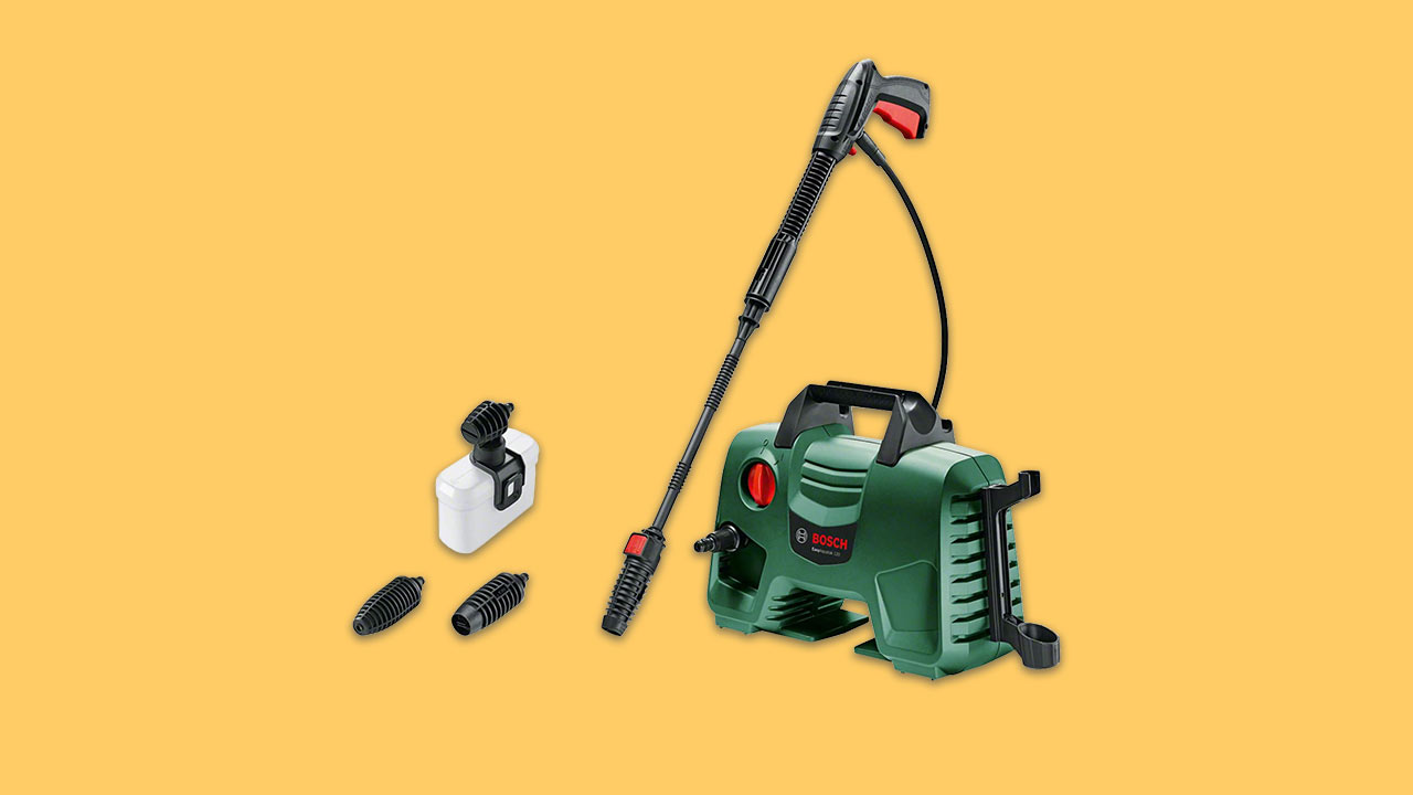 compact bosch pressure washer with lance for all outdoor cleaning jobs
