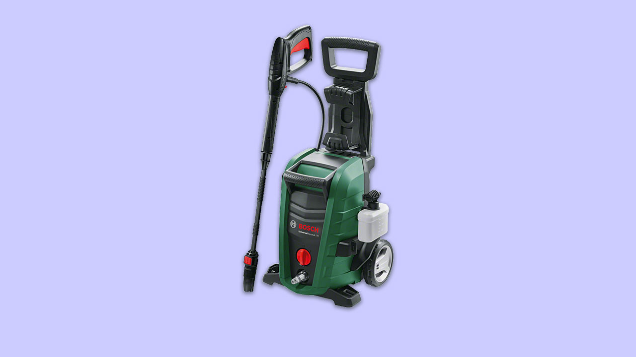 recommended high power bosch pressure washer with lance and chemical bottle 135 bar