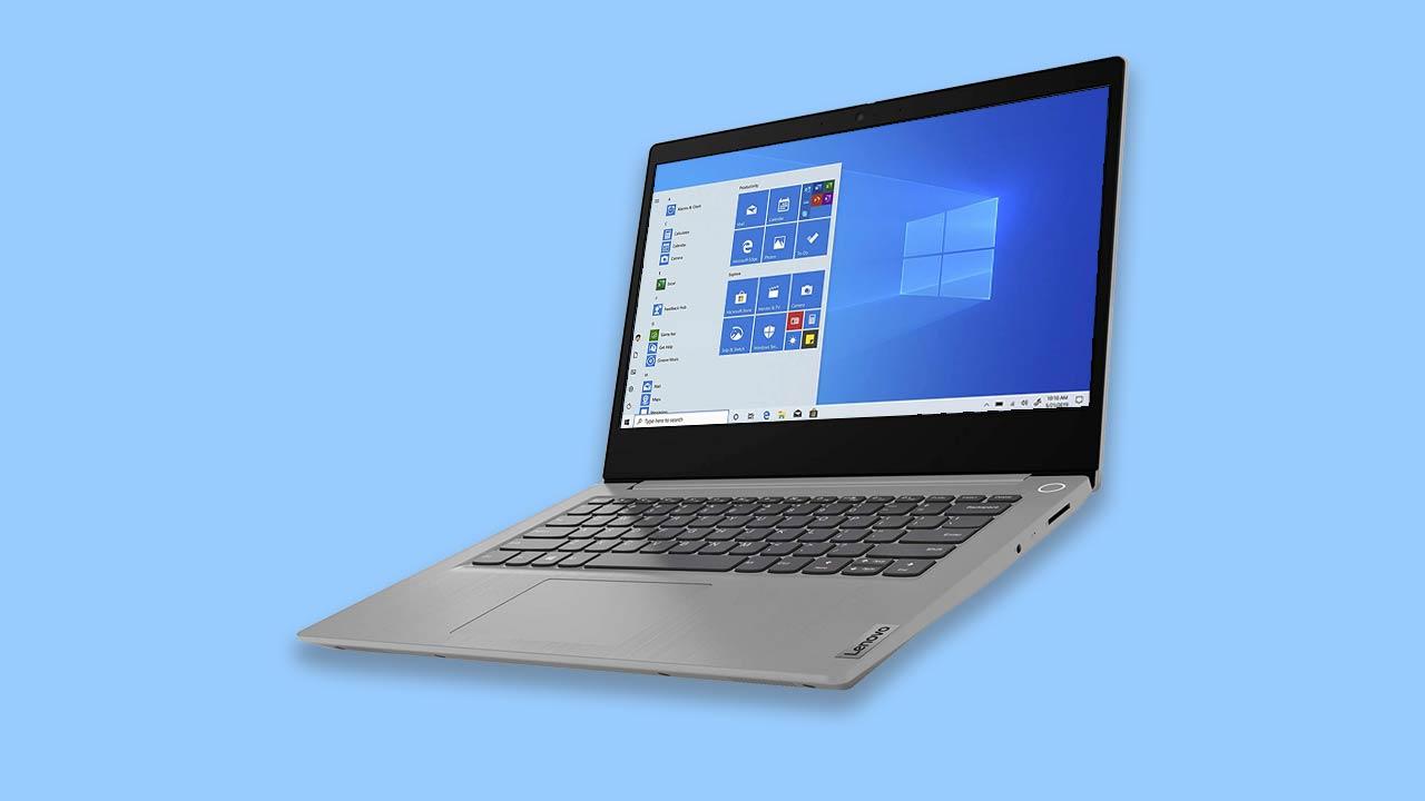 Best windows laptop under £400 Lenovo IdeaPad 3 14ADA05 14 Inch FHD with new windows 10 start screen UK