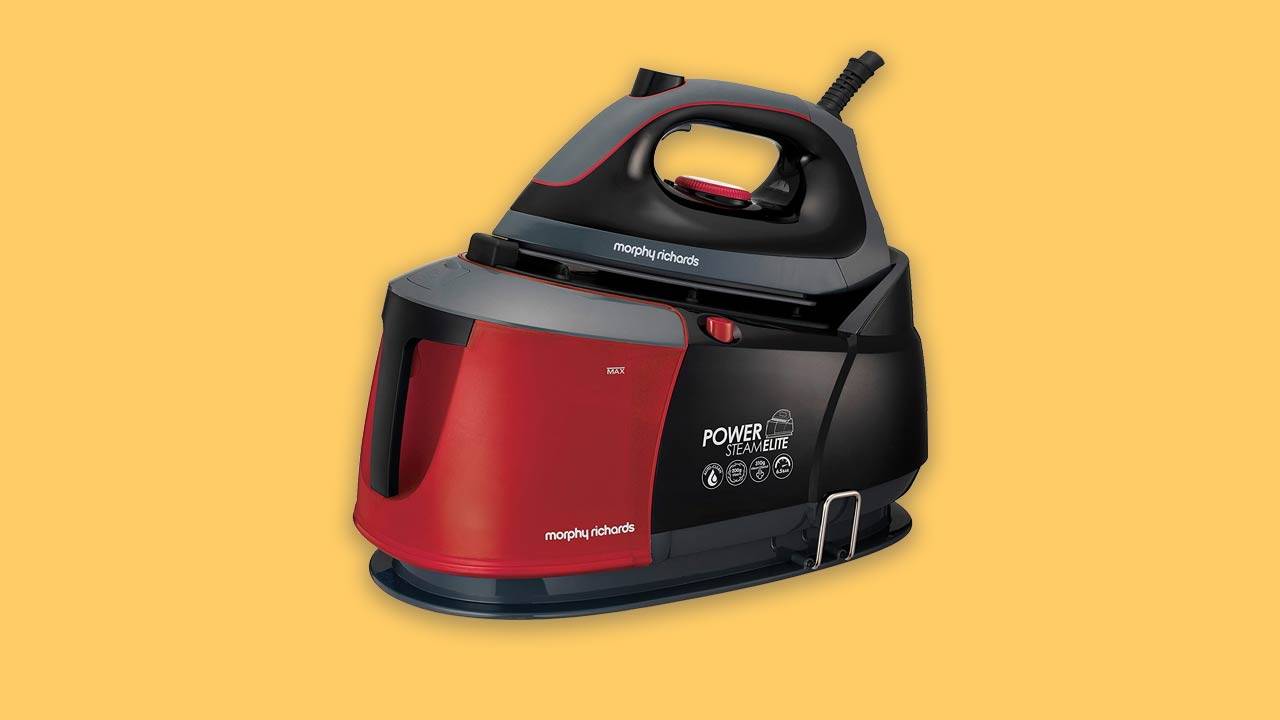morphy richards steam generator iron with large tank red and black