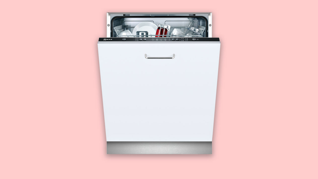 Neff fully integrated dishwasher with cutlery basket and fixed door uk