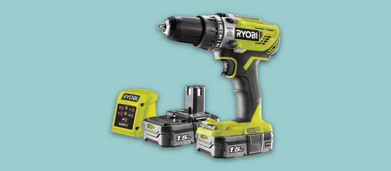 ryobi cordless combi drill with 2 batteries and charger diy uk