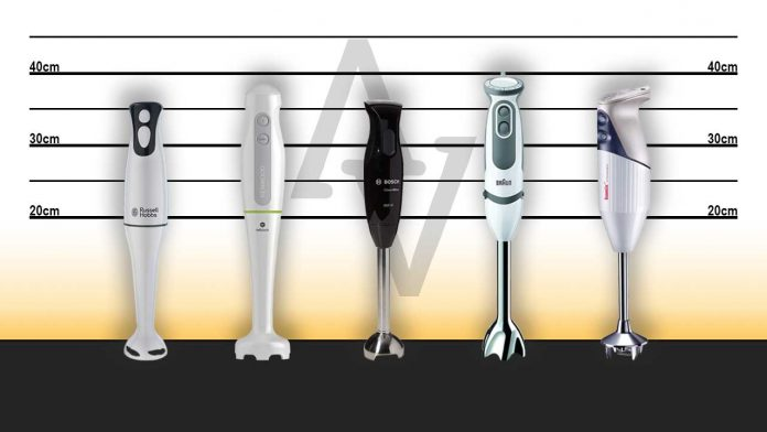 Best Buy hand blenders Russell Hobbs, Kenwood, Bosch, Braun, Bamix. Recommended models measure-up. Usual Suspects. UK