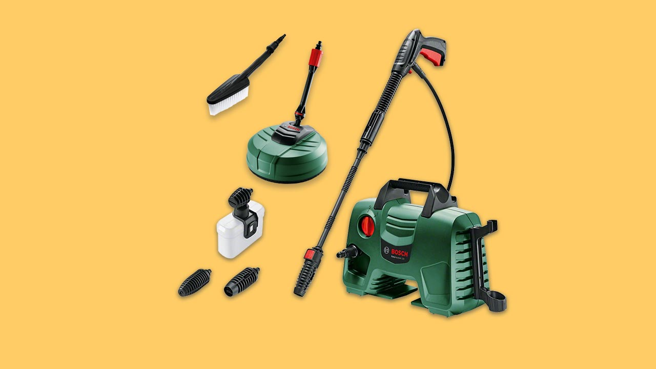 best pressure washer budget deal bosch EasyAquatak 120 with patio cleaner and car brush