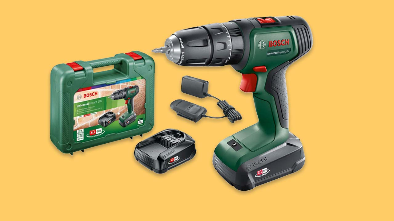 bosch impact hammer cordless combi drill with 2 batteries charger and case UK
