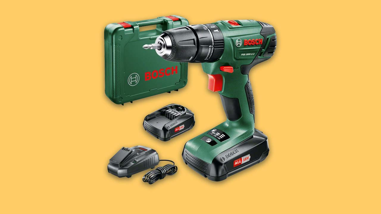 Best Bosch Cordless Drill with 2 batteries, charger and case. Recommended DIY drill in the UK