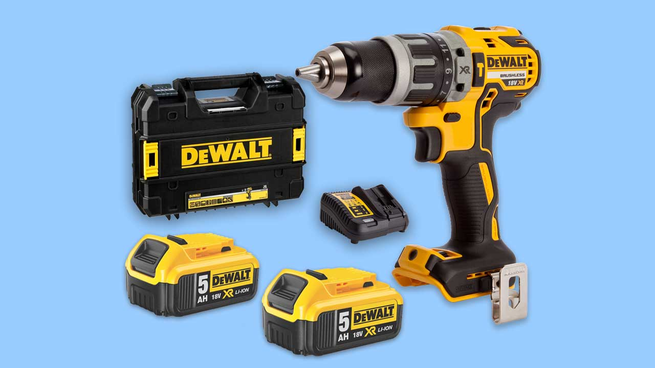 dewalt dcd796 with 2 5Ah batteries charger and case