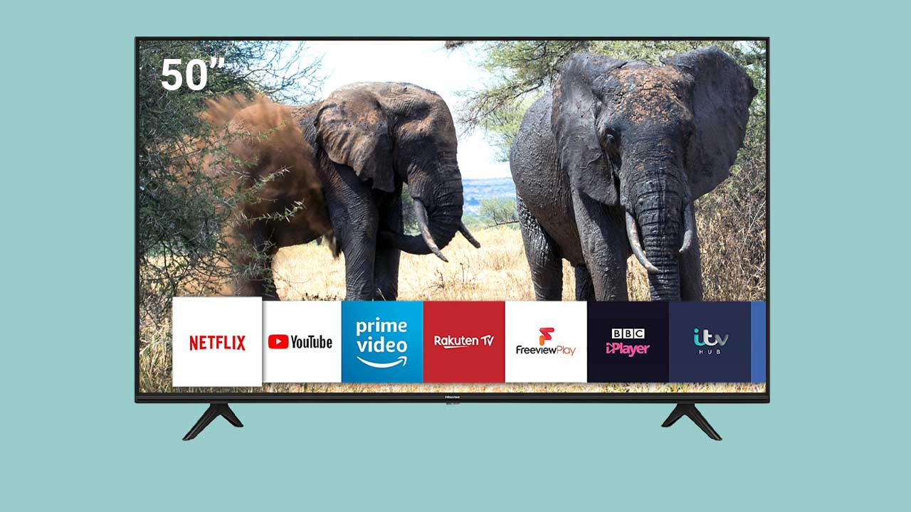 HISENSE 50AE7000FTUK 50-inch 4K UHD HDR Smart TV with Freeview play, and Alexa Built-in