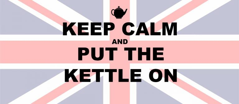 keep calm and put the kettle on British union jack flag
